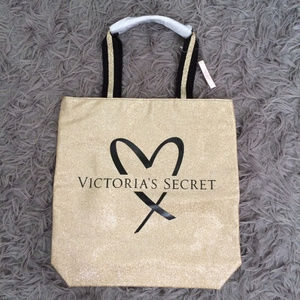 Victoria's Secret Bags - Gold Sparkly Victoria's Secret Tote Weekender Bag